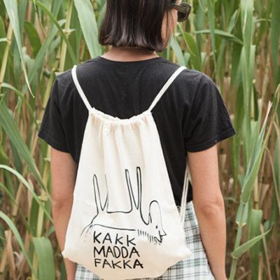 kmf off white gym bag