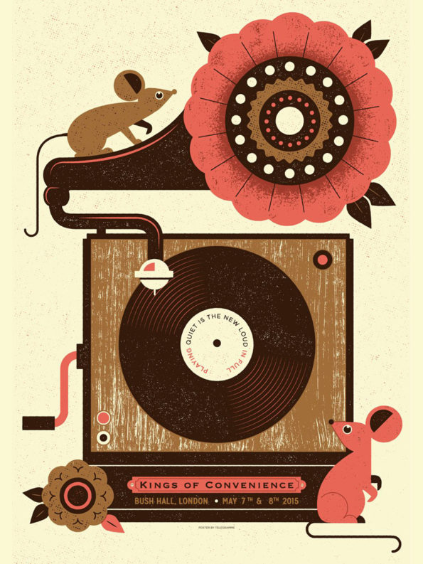 design-telegramme-kings-of-convenience-bush-hall-poster